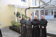 Le nouveau définitoire (de gauche à droite : fr. Adrian, fr. Jack, fr. Bernard, fr; Jean - François - Marie).
