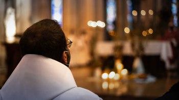 Fr. Jérémie - Marie avant le rituel de l'ordination
