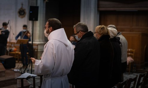 Avant le rituel de l'ordination