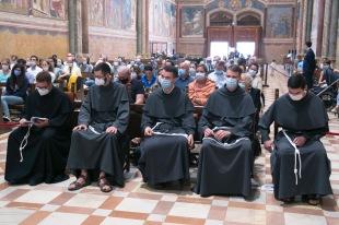 De gauche à droite : fr. Charles-Eric, fr. Clément, fr. Gabriel et fr. Raphaël.